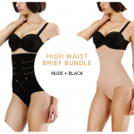 High Waist Brief Bundle (Nude + Black)