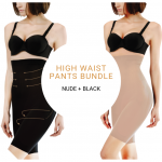 High Waist Pants Bundle (Nude + Black)